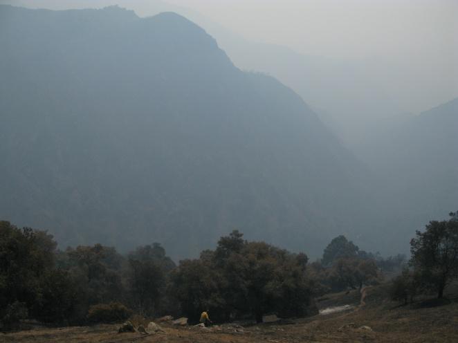 Bryan descends Hawk Mountain